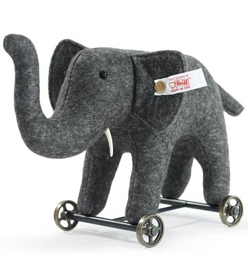Felt Elephant on Wheels EAN 420412 by Steiff