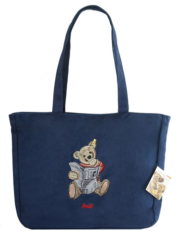 Dark Blue Steiff Tote Bag