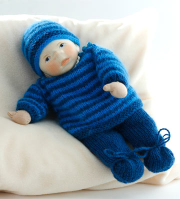 Baby In Blue Knit Stripes M022