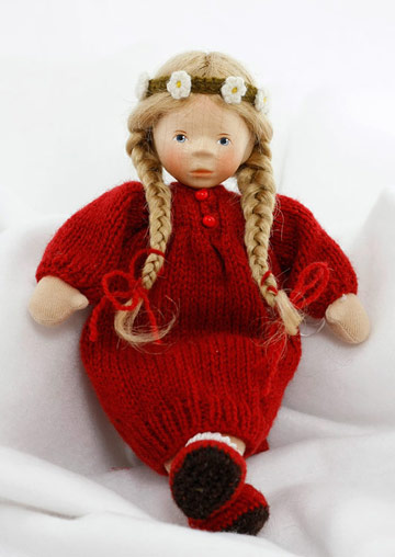 August Girl In Red Knit Dress, Soft Body L030