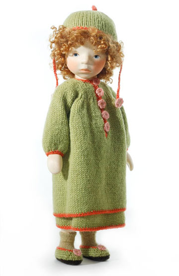 Girl In Green Knit H256 by Elisabeth Pongratz