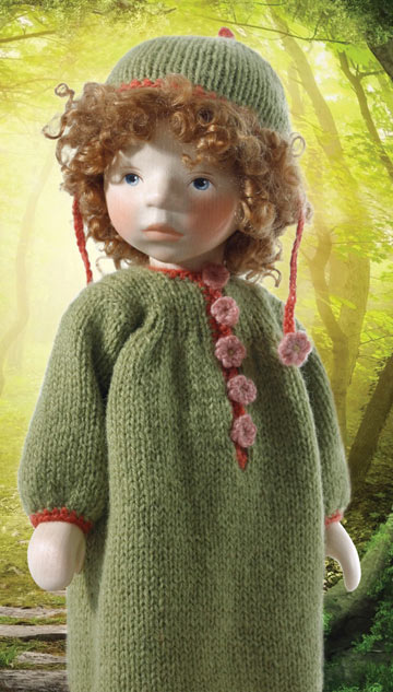 Girl In Green Knit H256