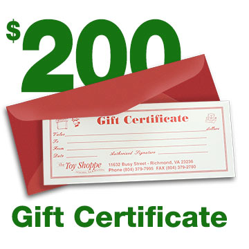 $200 Gift Certificate by The Toy Shoppe