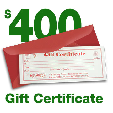 $400 Gift Certificate by The Toy Shoppe