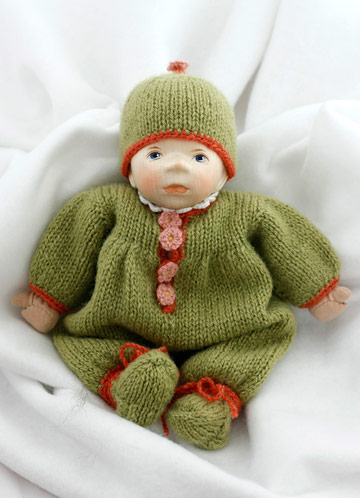 Caucasian Baby In Green Knit M051