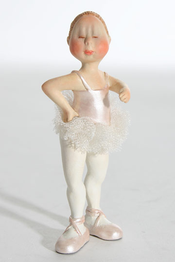 Blond Ballerina in Pale Pink