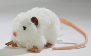 fat rat white 5576 by hansa at the toy shoppe