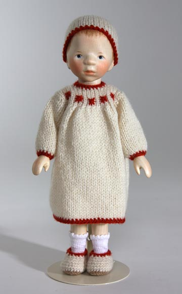 All Wood Girl In Cream Knit DJ353 by Elisabeth Pongratz