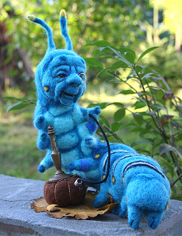 Blue Caterpillar with Hookah