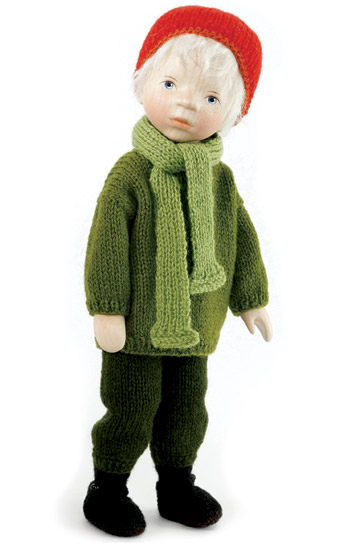 Boy In Green Knit Sweater H314
