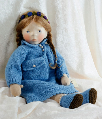 Cloth Girl In Blue Knit, Soft Body S102