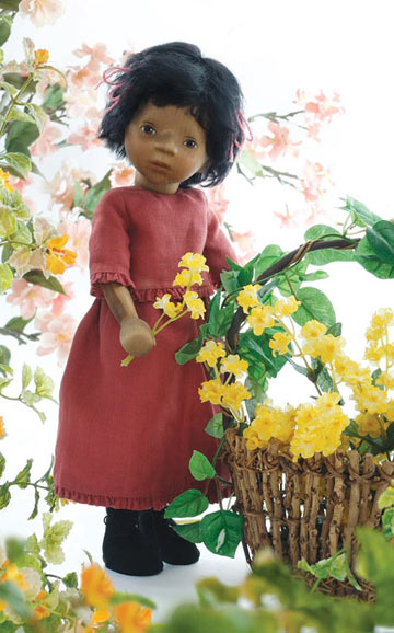 African American Girl In Raspberry Dress H302E