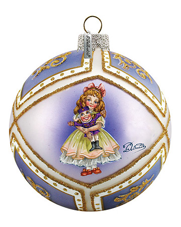 Nutcracker Clara Glass Ornament