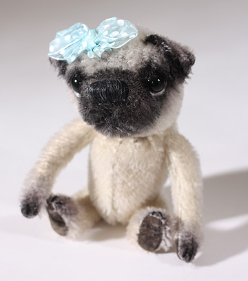 Priscilla Pug by Deb Beardsley, Beardsley Bears