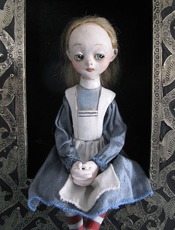 Alice Shadowbox by Lucia Friedericy, Friedericy Dolls