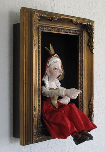 Queen Of Hearts Shadowbox by Lucia Friedericy, Friedericy Dolls