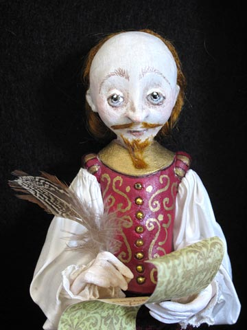 Shakespeare Shadowbox by Lucia Friedericy, Friedericy Dolls