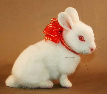 Red Ribbon Baby Bunny