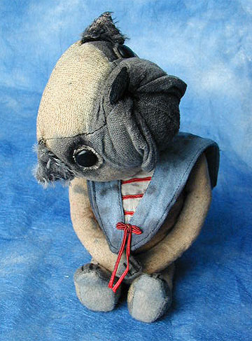 Bedraggled Pug by Deb Beardsley, Beardsley Bears