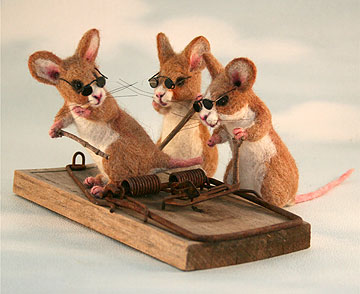 3 Blind Mice Set with Trap