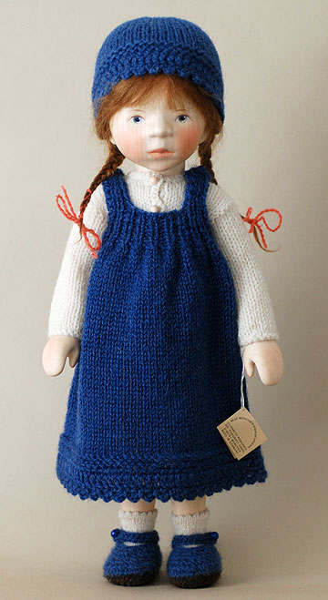 Girl in Blue Knit Jumper H322