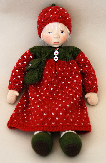 Girl in Strawberry Knit S105