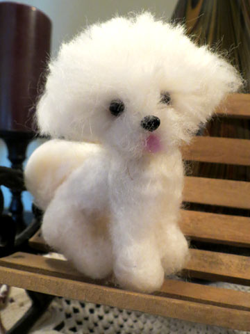 bichon frise by designs by karen at the toy shoppe
