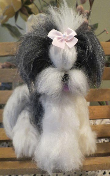 Shih Tzu Black And White Long Hair