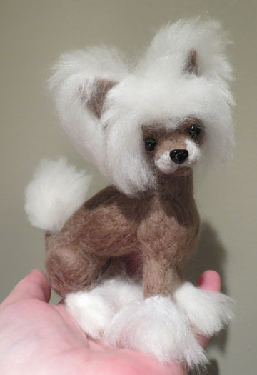 Chinese Crested brown & white by Designs By Karen