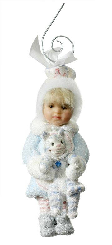 Winter Alice with Cheshire Cat Ornament