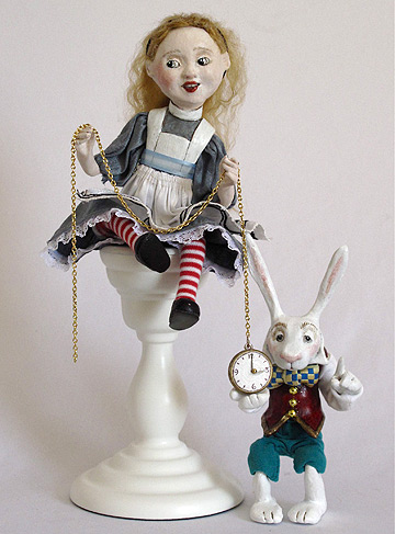 Alice Candlestick With White Rabbit