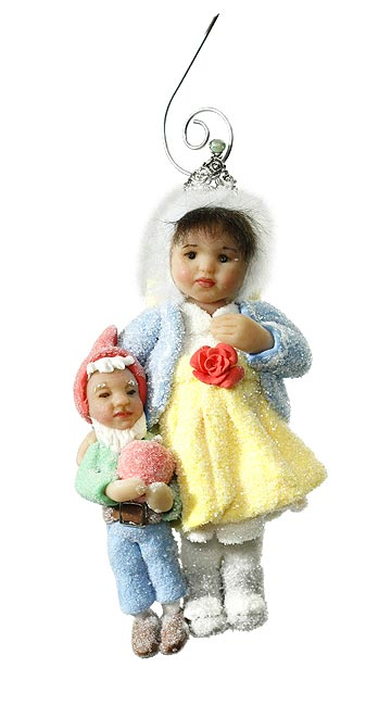 Snow White and Dwarf Ornament
