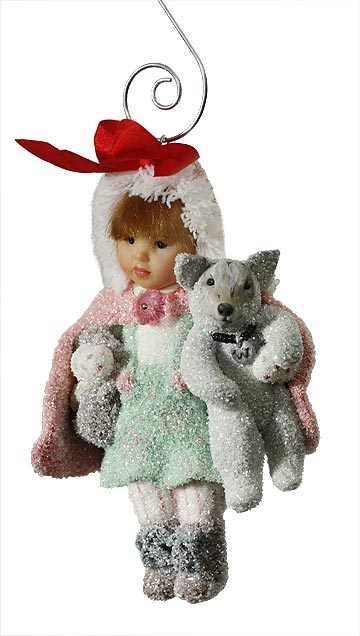 Red Riding Hood with Wolf Ornament