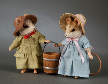 Jack And Jill Mouse Set by R. John Wright