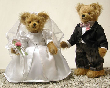 Personalized Wedding Bears Bride And Groom Masterpiece