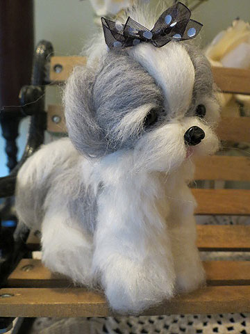 Shih Tzu Gray And White By Designs By Karen At The Toy Shoppe