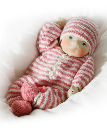 Baby In Striped Knit B055