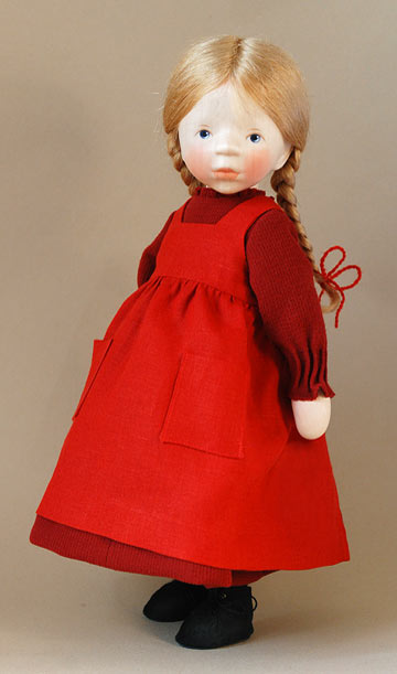 Girl In Red Pinafore H327