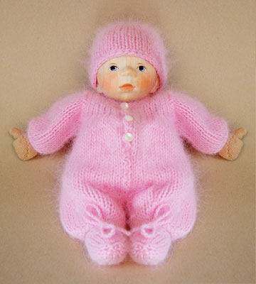 Baby In Pink Angora Knit K003