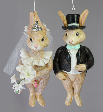 Mr. And Mrs. Rabbit Wedding Pair