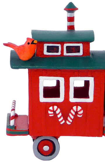 Wee Forest Folk M-453f Christmas Train Caboose