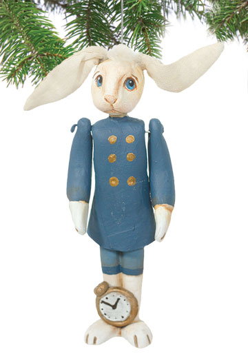 White Rabbit Ornament