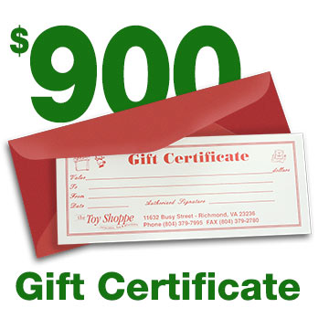 $900 Gift Certificate by The Toy Shoppe