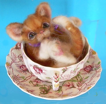 Tabby Cat Tea Cup Tot