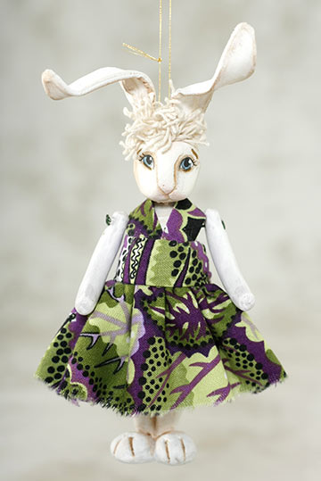 Girl Rabbit Ornament