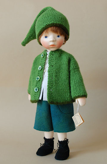 Boy In Green Jacket H337