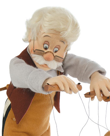 Geppetto And Pinocchio Series I Marionette by R. John Wright