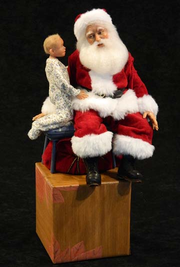 Personalized Santa And Child by Mark Dennis
