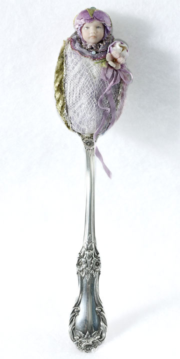 Lavender Sterling Silver Spoon Baby