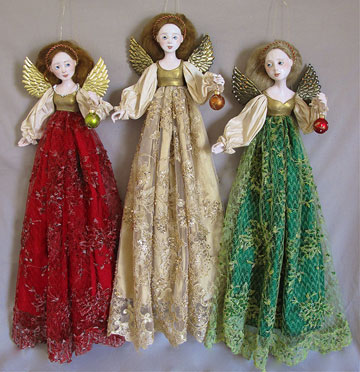 Christmas Angel, Gold by Lucia Friedericy, Friedericy Dolls
